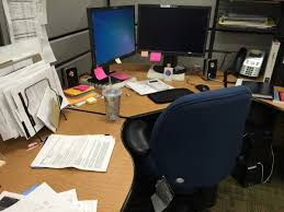 decorating your office cubicle.  Cubicle Messy Disorganized Notsopretty Desk And Decorating Your Office Cubicle A