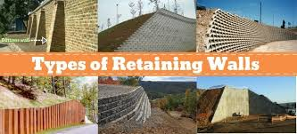 10 types of retaining wall what is