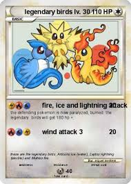 Pokémon Legendary Birds Lv 30 30 Fire Ice And Lightning Attack