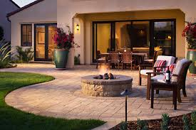 paver patio with gas fire pit. Prick Paver Patio With Fire Pit Gas