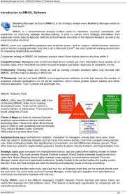 Semantic Differential Chart Excel Mm4xl Users Guide Marketing Manager For Excel Software