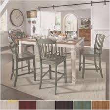 elena antique white extendable counter height dining set slat back from inspire q clic 5 piece