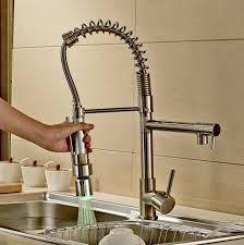 Faucet For Kitchen Sink Rozinsanitary Contemporary Single Handle Two Spouts Kitchen Sink