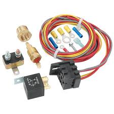 jegs performance products 10560 electric fan wiring harness relay jegs electric fan wiring harness and relay kit 30 amp