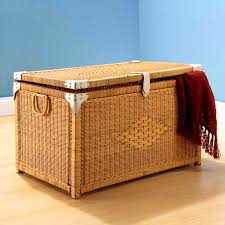 size bathroom wicker storage: pretty accented natural rectangular rattan storage trunk bathroom chest trunks uk l full size