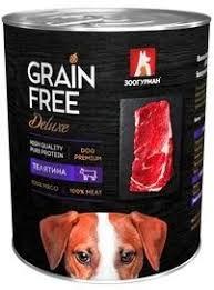 <b>Консервы Зоогурман Grain Free</b> Телятина для собак - купить в ...