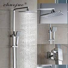 bathroom shower faucet set bronze bathtub shower faucet bath shower tap waterfall shower head wall mixer