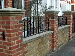 wrought iron fence brick. Incredible 1000 Images About Brick Fence On Pinterest Jasmine Yard Ideas With Iron Wrought