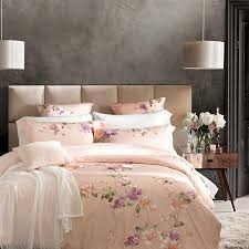 4 6pcs 100 cotton bedding set luxury 60s sateen duvet covers king size bed linen embroidery bed sheets queen bedspread in bedding sets from home garden