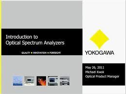 Optical Spectrum Analyzer Yokogawa Test Measurement