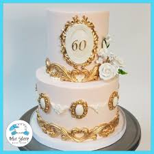 Pink And Gold Vintage 60th Birthday Cake Nj Blue Sheep Bake Shop