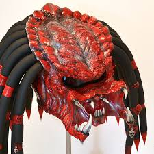 red devil predator motorcycle helmet unique exclusive custom
