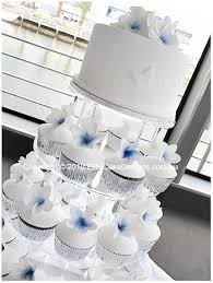 Frangipani Wedding Cupcakes Elegant Wedding Cakes Wedding Floral