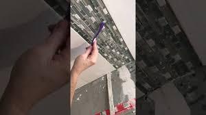 cleaning thinset from mosaic tile backsplash