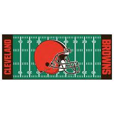 fanmats cleveland browns 3 ft x 6 ft football field runner rug