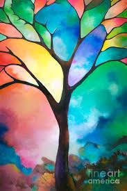 tree art abstract original art abstract art acrylic painting tree of light sally