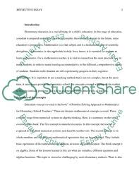 Elementary Essay Examples Elementary Education Essay Example Topics And Well Written