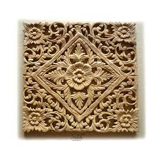 white carved wood wall decor uk carving lotus art panel teak sculpture paneling bed carved wood wall decoration