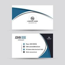 Company Card In Modern Style Vector Free Download