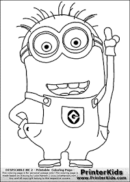 Small Picture Despicable Me 2 Minion 1 Pointing up Coloring Page Bulletin