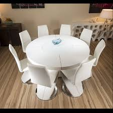 high gloss white dining table ideas round