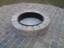 patio pavers with fire pit. Fire Pit With Steel Ring Patio Pavers G