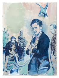 neo rauch at the well david zwirner sauger 2016 oil on canvas 15