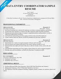 data entry coordinator resume sample resumecompanioncom resume for data entry