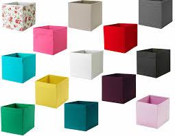 3 x ikea drona box fabric storage expedite kallax shelf shelving boxes toys box