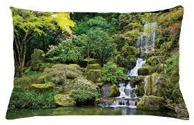 Waterscape Garden Designs Amazon Com Ambesonne Garden Throw Pillow Cushion Cover