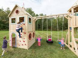cedarworks chemical free playset eco play house eco playhome eco playset