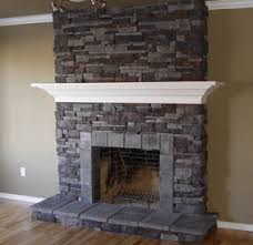 indoor stone fireplace. reface brick fireplace with stone indoor i