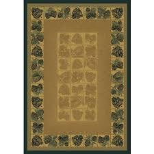 pine cone design area rugs rugs for cabins lodges rustic area rugs wildlife themes pine cones natural area rug cabin style pine cone design rugs