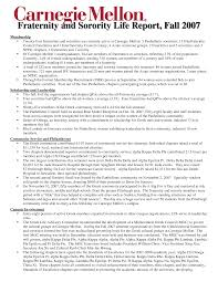 ... sorority recruitment resume template sample ...