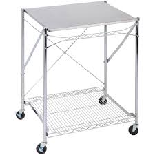 honey can do urban stainless steel folding work table cart with wheels com