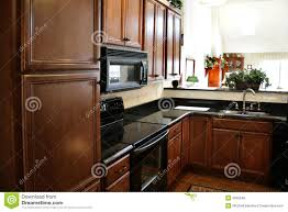 black and stainless kitchen kitchen wood cabinets black and stainless stove