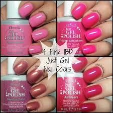 4 pink ibd just gel nail polish colors spring