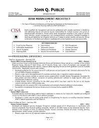 risk management officer sample resume intended for risk management resume  samples