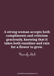 Beautiful And Strong Quotes Best of Inspirational Quotes A Strong Woman Accepts Both Compliments And