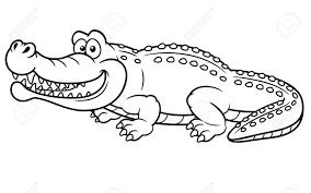 Tuyển tập 50 bức tranh tô màu con cá sấu đẹp cho bé mầm non - Zicxa books