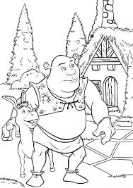 Small Picture 12 coloring pages of shrek Print Color Craft