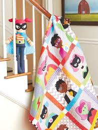 53 best Boys Quilt images on Pinterest | Boy quilts, Monsters and ... & Bedtime Superheroes quilt: This cute superheroes quilt for kids is featured  in the book