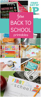 School Charts Ideas Free Back To School Printables Fantastic Fun Learning