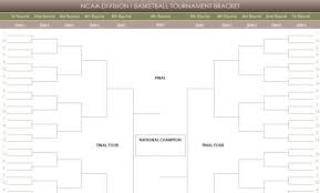 Excel Ncaa Tournament Bracket Tournament Bracket Templates For Excel 2018 March Madness Bracket
