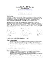 vincent conrad resume wz - Asset Protection Job Description