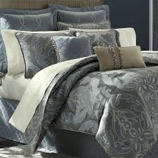 chantal 4 pc comforter set steel blue