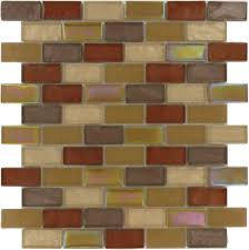 1 x 2 bronze copper glass uniform brick tile glossy frosted iridescent 200112
