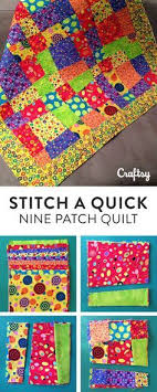 Stitch a Quick and Easy Crazy Nine Patch Quilt Pattern | Baby ... & Stitch a Quick and Easy Crazy Nine Patch Quilt Pattern Adamdwight.com