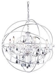 chrome orb chandelier orb crystal chandelier 6 lights medium size regarding popular home chrome orb chandelier chrome orb chandelier