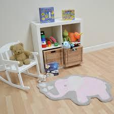 candy elephant nursery rug